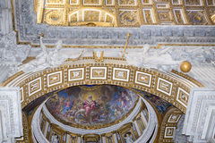 Fresques antiques à Vatican Photo stock