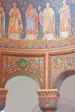 Fresques détaillés d'église Image stock