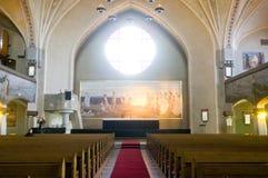 Fresques d'autel dans l'église luthérienne de Tampere images libres de droits