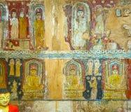 Fresques dans le temple de Yudaganawa Photo stock