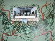 Fresques dans un restaurant italien dans Lancashire est Angleterre Photographie stock