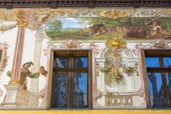 Fresques de château de Peles Photographie stock
