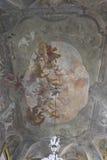 Fresques majestueux sur le plafond de Palazzo Litta Image libre de droits