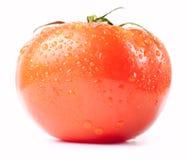 Frest wet tomato. Isolated on white Stock Photo