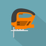 Fret-saw. Vector picture of fret-saw, flat style icon Stock Photography