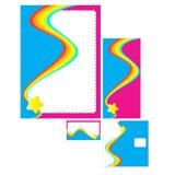 företags designset Arkivbild