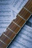 fretboard吉他 图库摄影
