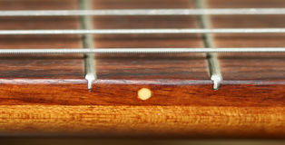Fretboard. 5 fret on a fretboard royalty free stock images