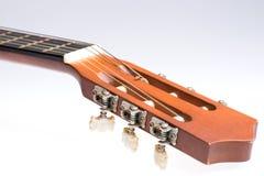 Fretboard av den gamla klassiska gitarren arkivfoto