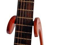 Fretboard da guitarra acústica isolado no branco Imagem de Stock