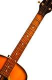 Fretboard de guitare acoustique photographie stock