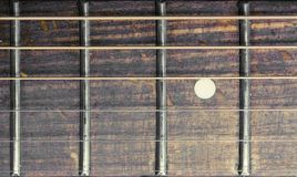 Fretboard de guitare acoustique Photos stock