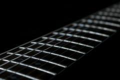 Fretboard de la guitarra imagen de archivo libre de regalías