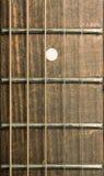 Fretboard de la guitarra acústica Fotografía de archivo