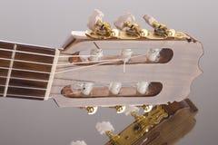 Fretboard de la guitarra en la superficie del espejo Fotos de archivo libres de regalías