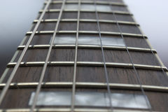 Fretboard del palissandro della chitarra fotografia stock