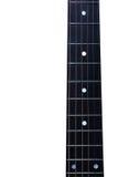 Fretboard för akustisk gitarr Arkivfoto