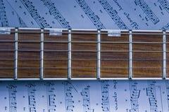 fretboard gitara Obrazy Royalty Free