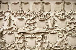 Fretwork element of historical monuments Royalty Free Stock Image