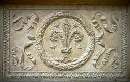 Fretwork element of historical monuments Stock Image