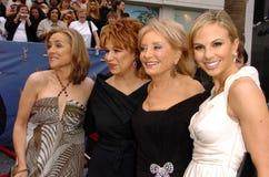Freude Behar, Meredith Vieira, Barbara Walters, Elisabeth Hasselbeck Stockfotografie