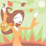 Freude am Herbst Stockbild