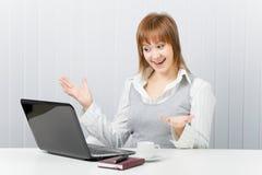 Freude im Büro Stockfoto