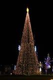 Freude mit dem Nachtweihnachten Lizenzfreies Stockfoto