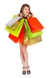 Freude am spärlichen zeit- Einkaufen Stockfotografie
