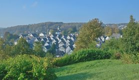 Freudenberg,Siegerland,North Rhine Westfalia,Germany. Half Timbered Houses in Freudenberg,Siegerland,North Rhine Westfalia,Germany royalty free stock image