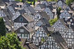Freudenberg, village of half-timbered houses Stock Images