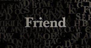 Freund - 3D übertrug metallische gesetzte Schlagzeilenillustration vektor abbildung