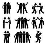Freund-Freundschaft-Verhältnis-Team lizenzfreie abbildung