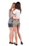 Freund mit zwei jungen Frauen. lizenzfreie stockfotos