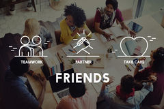 Freund-Partner mach's gut Teamwork-Konzept Lizenzfreie Stockfotografie