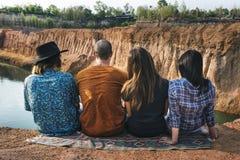 Freund-Reise-Urlaubsabenteuer-zusammen Konzept lizenzfreies stockfoto