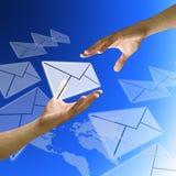 Freund senden eMail Stockbilder