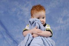 Freund und seine Decke Stockbild
