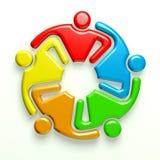 Freunde der Gemeinschafts3d Lizenzfreie Stockfotos
