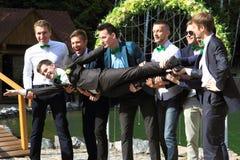 Freunde des Bräutigams Lizenzfreie Stockfotografie