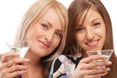 Freunde, die Wermut trinken stockfotografie