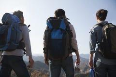 Freunde, die zur Reise fertig werden Lizenzfreie Stockfotos
