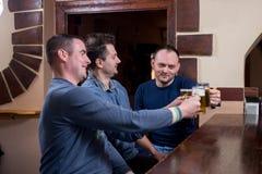 Freunde genießen Bier lizenzfreies stockfoto