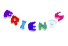 Freunde geschrieben in Geleezeichen Lizenzfreie Stockbilder