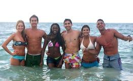 Freunde im Meerwasser Lizenzfreie Stockfotografie