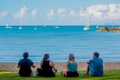 Freunde am Strand Lizenzfreies Stockfoto