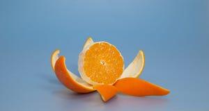 Freundlich abgezogene Orange stockfotografie
