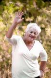 Freundliche ältere Frau. Lizenzfreies Stockfoto