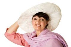 Freundliche fällige Frau lizenzfreie stockfotos
