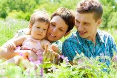 Freundliche Familie Stockfotografie